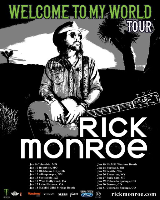 Rick Monroe Presents the 'Welcome to My World Tour 2020'