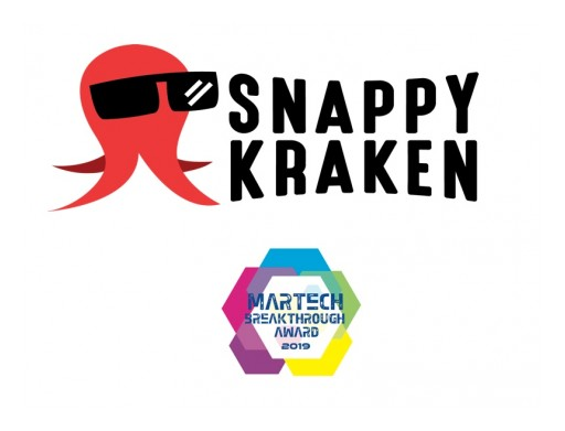 Snappy Kraken Named 'Best Overall Content Marketing Company' in 2019 MarTech Breakthrough Awards Program