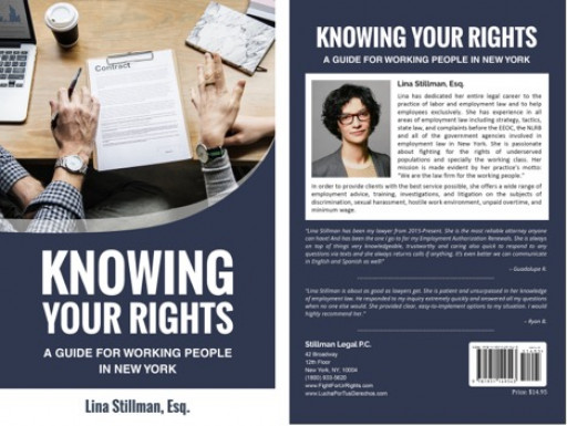 Lina Stillman Launches Powerful Handbook 'Knowing Your Rights: A Guide For Working People In New York'