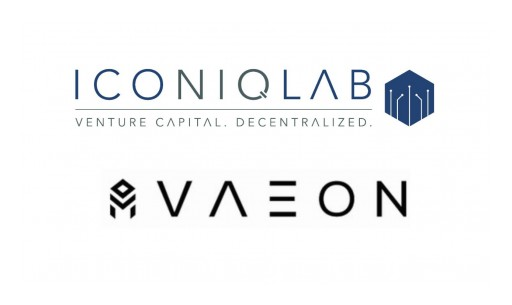 Iconiq Lab Onboards the First Investment Worldwide by the Finlab EOS VC Fund - the VAEON Protocol
