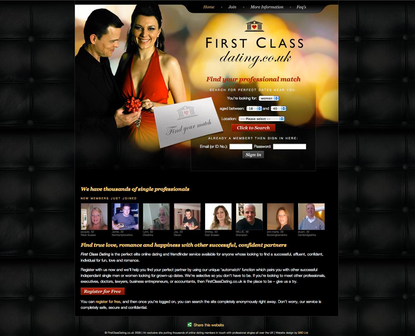 first class dating