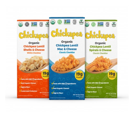 Chickapea Launches the Only Organic, Pulse-Based Mac and Cheese