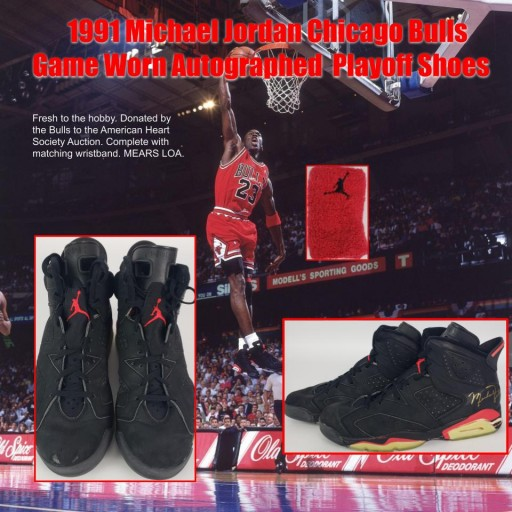 Michael Jordan's First Championship Run Game Worn Shoes & Jersey HIt Auction Block - Expected to Bring $100K+