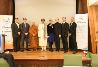 Religious leaders gathered in the name of peace at the Church of Scientology in San Jose