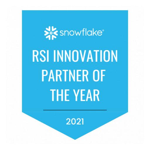 Snowflake Names phData 2021 RSI Innovation Partner of the Year North America