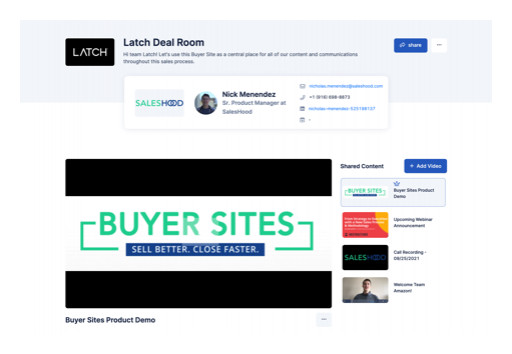 Saleshood Launches Buyer Sites to Elevate Virtual Selling Experience