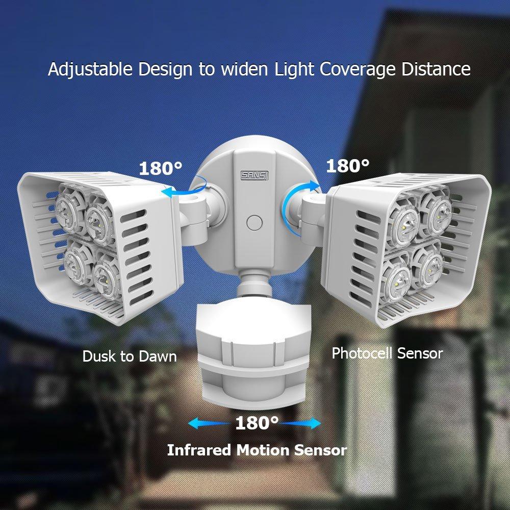 Sansi Led Security Motion Sensor Outdoor Lights Bring