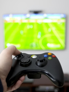 Video Game Console with Sports Game