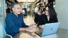Gladstone Investigators Jorge Palop and Katerina Akassoglou
