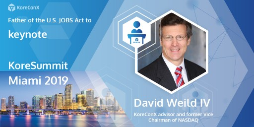 Father of the U.S. JOBS Act to Keynote KoreSummit Miami 2019