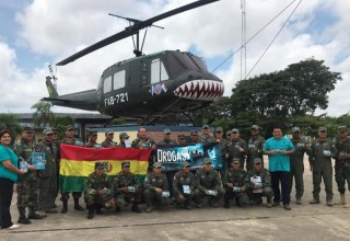 Bringing a squadron of the Bolivian Air Force onboard as drug prevention advocates