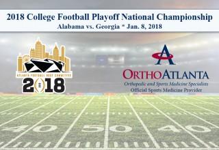 OrthoAtlanta Welcomes Alabama and Georgia Teams to College Football Playoff