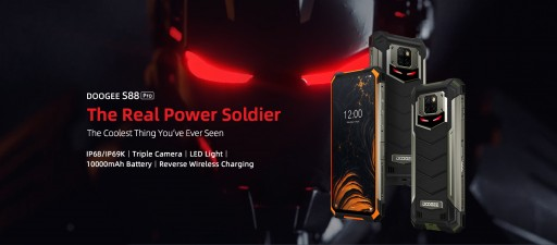 DOOGEE Introduces the S88 Pro IP68 Rugged Phone With Triple Camera, Unique LED Back Lighting and 10,000 mAh Battery