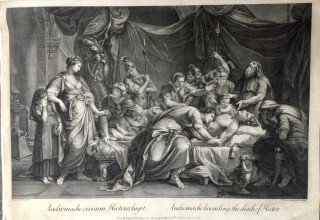 'Priam redeems the dead body of Hector,' 1775.