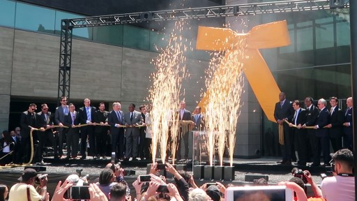 LA Soccer Stadium Opening Ceremony Features Live Special Effects and Celebrities