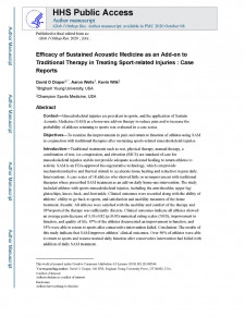 Real-world outcomes study on SAM wearable ultrasound treatment published in the Global Journal of Orthopedic Research 2020
