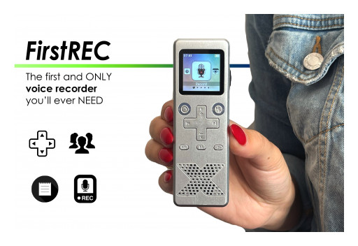 FirstRec - the World's First Voice Recorder With Color OLED Display & Simplified Menu, Specially Designed for Children and Seniors, Launches on Kickstarter