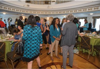 """""""Speed networking"""" session at the Summer Charity Coalition hosted by the Church of Scientology at the Fort Harrison Crystal Ballroom"""