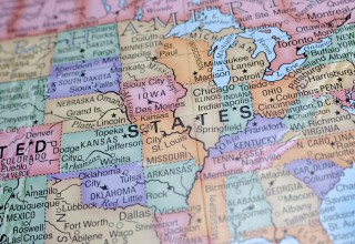 Map of America East Coast Zoom IN