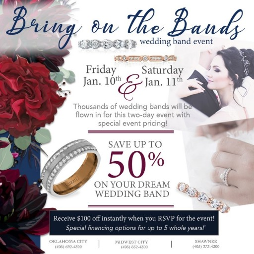 Huntington Fine Jewelers in Oklahoma to Hold 'Bring on the Bands' Wedding Band Event in January