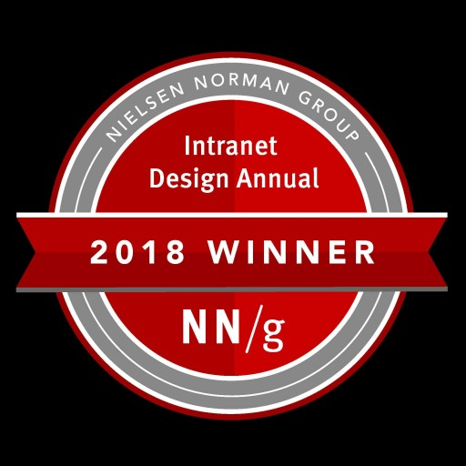 2018 Nielsen Norman Group Intranet Design Awarded to Bonzai Intranet Client