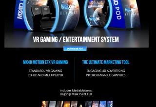 MX4D Motion EFX VR Lobby POD explained