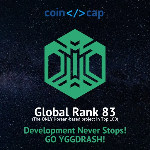 YGGDRASH, the Only Korean-Based Blockchain Project to Be Listed in 'CodeCoinCap' Top 100