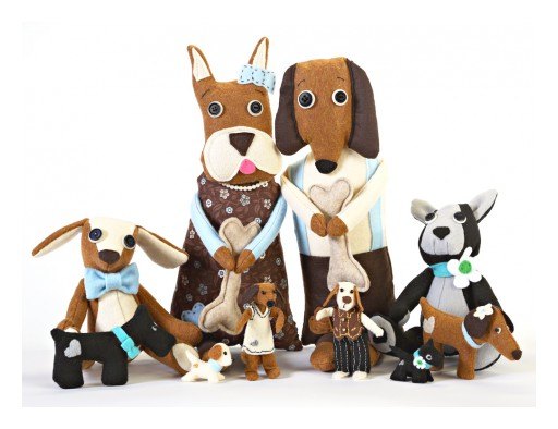 Jennifer D Burrell Launches New Heart Felt Dogs Collection