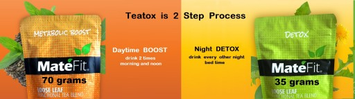 MateFit Teatox 2 Step Process