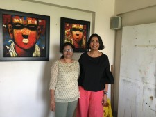 Contemporary Indian Artist Sujata Achrekar with Sonia