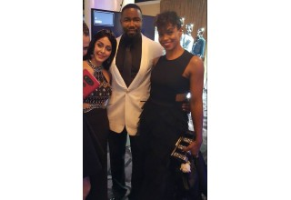 Dr. Elham Madani with actor Michael Jai White and his wife actress Gillian Iliana Waters