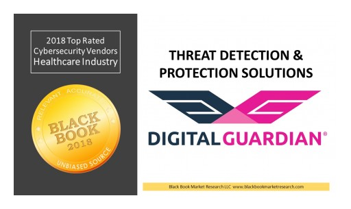 Digital Guardian Ranks Top in Threat Detection & Protection, 2018 Black Book Market Research Cybersecurity User Survey