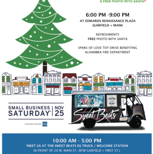 Downtown Alhambra Kicks Off Holidays on Nov. 25 With Small Business Saturday and Tree Lighting Ceremony