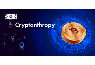 Cryptanthropy and Bitcoin (BTC) Logos