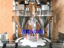 Double Heads Auger Filler