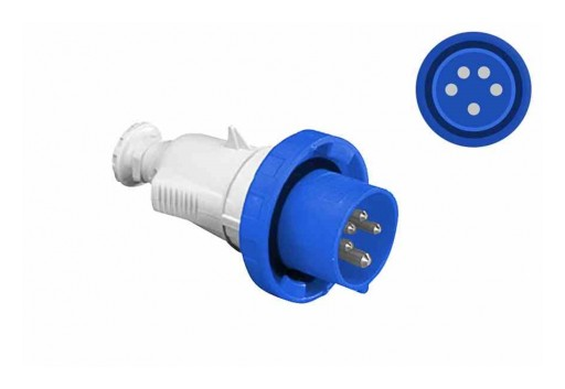 Larson Electronics Releases Weatherproof Pin and Sleeve Plug, 32A, 208Y/120V AC, 3PH