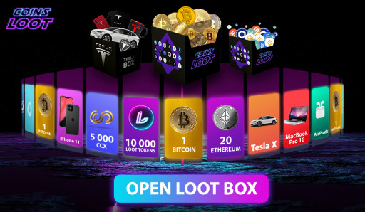 CoinsLoot Launch World's First Crypto Loot Boxes, With 10% Free Crypto, Prizes and Staking Rewards