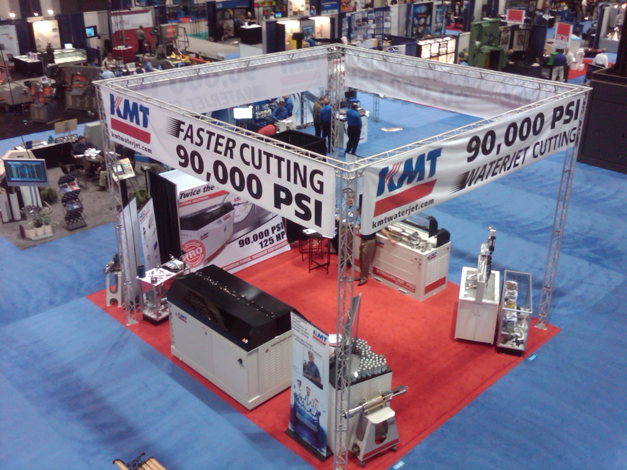 KMT Waterjet Systems showcases Streamline PRO 90,000psi at