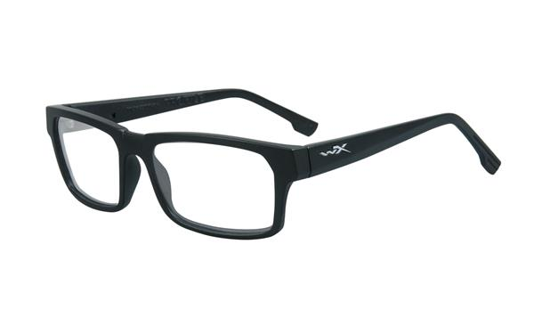 Gloss Black To Brown Stripe Frame Eyeglasses Wiley X Worksight Contour Clear