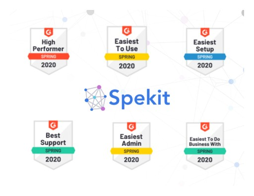 Spekit Solidifies Leadership Position With Six Badges on G2 Spring 2020 Grid Report for Digital Adoption Platforms