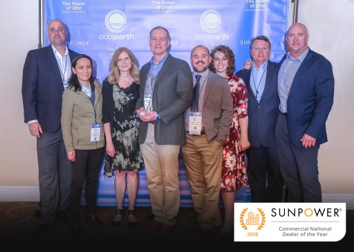 Cool Earth Solar Honored With SunPower 2018 'Commercial National Dealer of the Year' Award