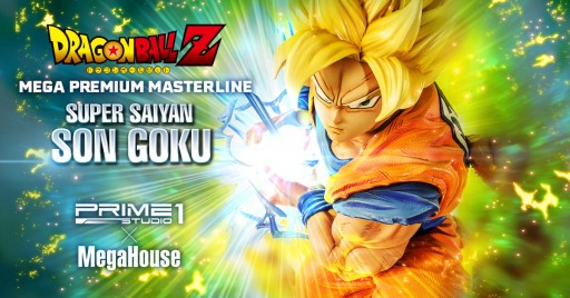 Prime 1 Studio X Mega House Collaboration for the Super Saiyan Son Goku Statue From Dragon Ball Z