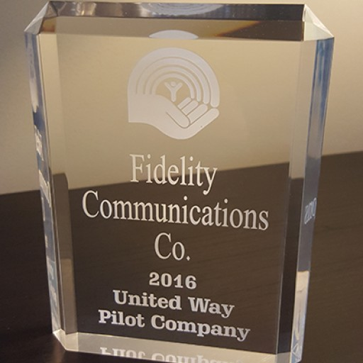 Fidelity Communications Honored as Pilot Company in United Way Effort