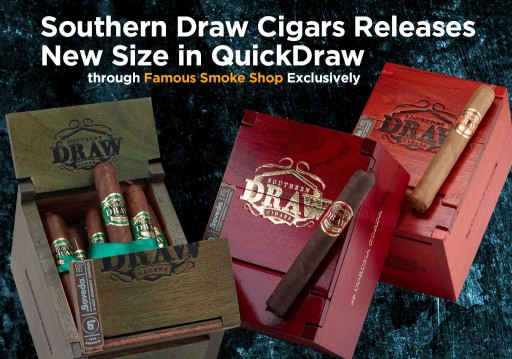 "Connoisseur-Size Cigars"": NEW QuickDraw Corona Gorda Gets a Famous Introduction"