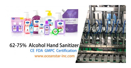 Leading Hand Sanitizer Manufacturer - Ocean Star Inc. - FDA CE Approved -  to Deliver 5 Million Hand Sanitizers