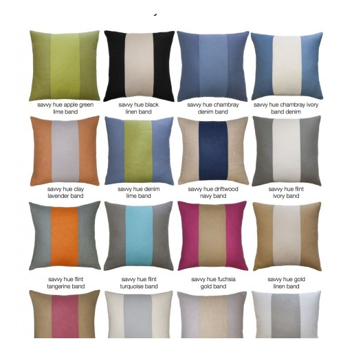Square Feathers, an Award-Winning Pillow, Furniture and Home Accessories Company Announces New Color Blocking Pillow Collections