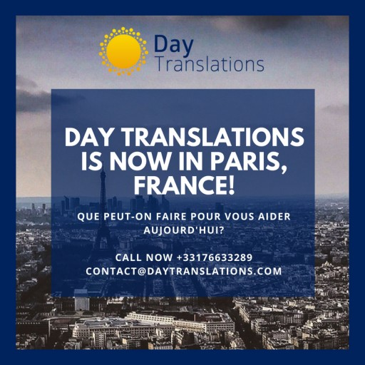 Global Translation Company, Day Translations Opens New Office in Paris, France