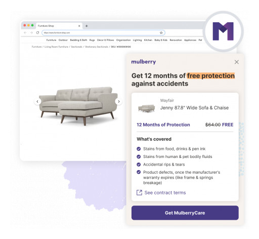 Mulberry Debuts MulberryCare: First-Ever Free Accident Protection for Online Shoppers