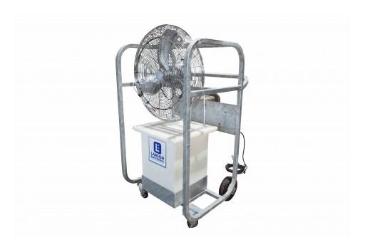 "Larson Electronics Releases Explosion Proof Portable Evaporative Cooler, 8,723 CFM, 30"" OD, 50Gal"