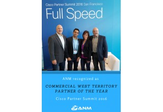 ANM Recognized as Cisco Partner of the year - West Territory
